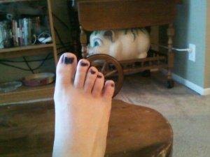 I like to paint toenails and I like candy as well