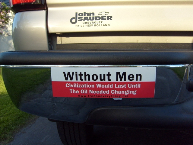 Awful bumper stickers that idiots put on their cars