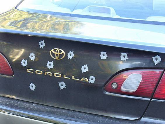 Fake bullet holes. They are magnets that make your car look like it was shot by a cartoon character. They might be cool if they weren't so ridiculously fake looking.