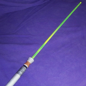 Here is a lightsaber that is either meant to be used as a whip or for insertion, or maybe both? I have no idea.